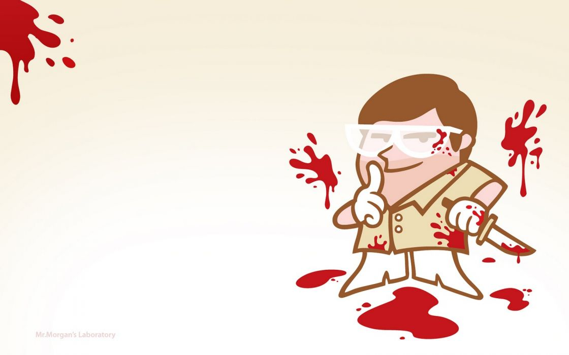 Dexter Dexter's Laboratory Blood White wallpaper