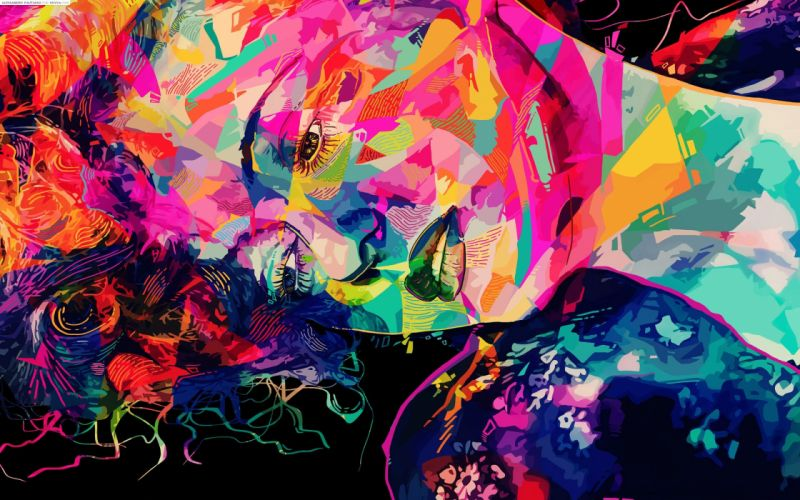 Face Abstract Colorful wallpaper