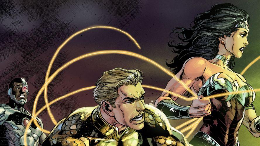 Justice League DC Aquaman Wonder Woman Cyborg wallpaper