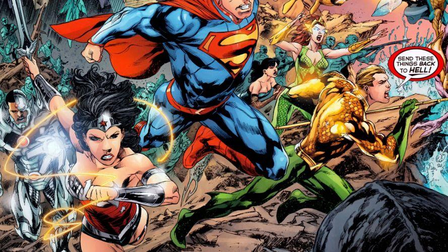 Justice League DC Wonder Woman Superman Aquaman wallpaper