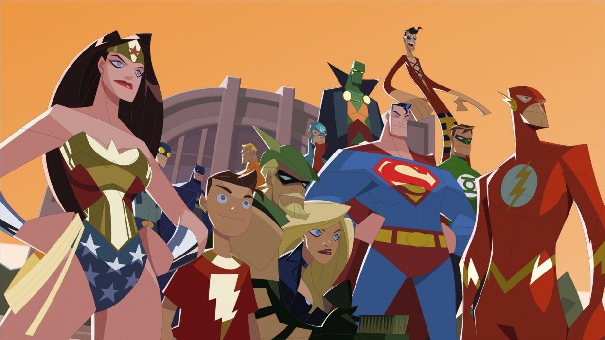 Justice League DC-comics The Flash Superman Wonder Woman Green Arrow Green Lantern Batman wallpaper