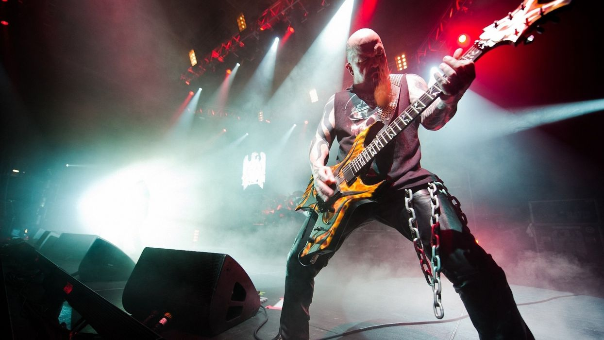 Kerry King Slayer Guitar Concert metal wallpaper