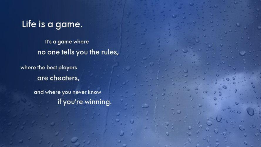 Life Game Blue Rain Water Drops wallpaper