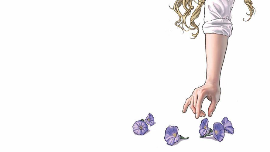 Morning Glories White Hand Flowers comics wallpaper
