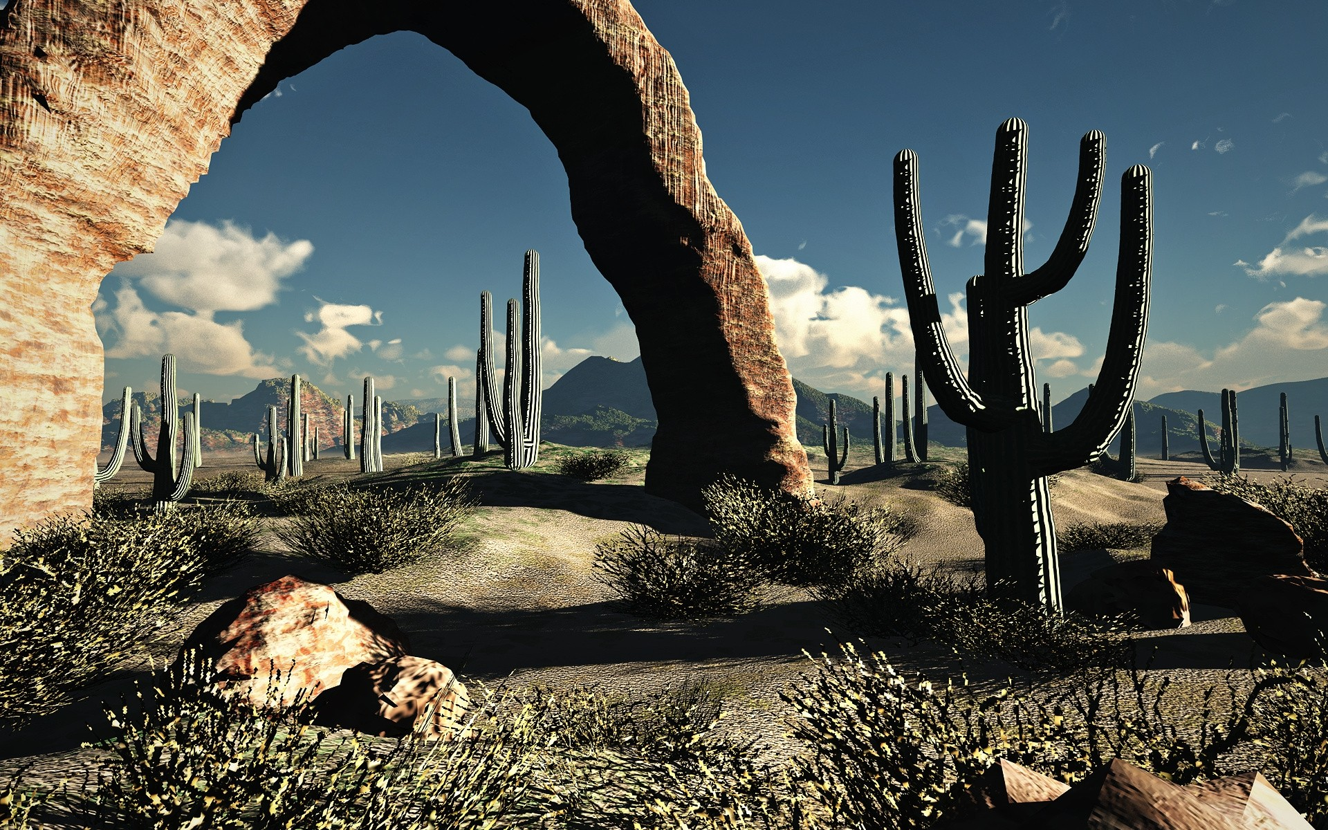 landscapes nature desert cactus wallpaper 1920x1200