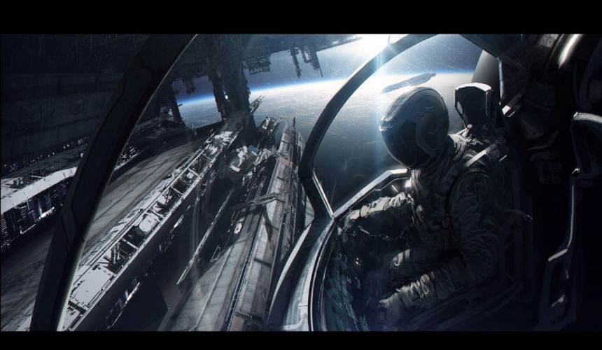 outer space artwork wallpaper