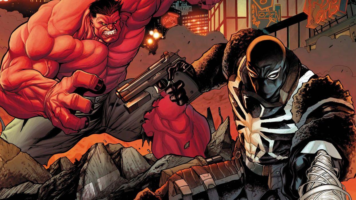 comics Venom Red Hulk Thunderbolts wallpaper
