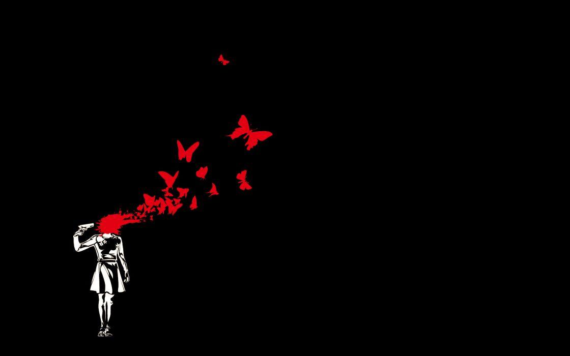 dark black blood butterfly female protagonist (persona3) persona persona 3 polychromatic wallpaper