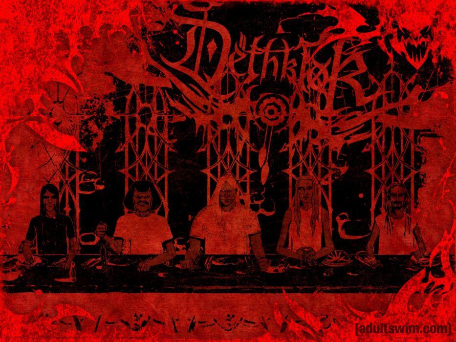Dethklok heavy metal music cartoons hard rock band groups metalocalypse     z wallpaper