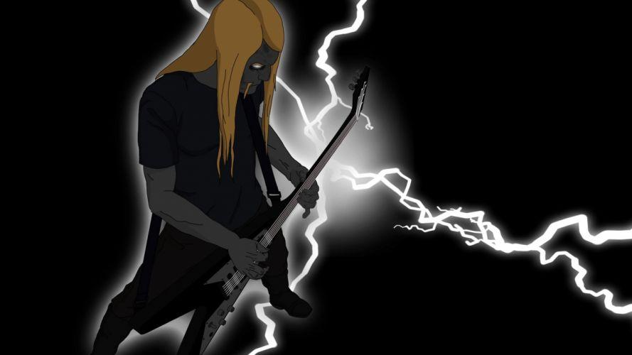 Dethklok heavy metal music cartoons hard rock band groups metalocalypse guitar e wallpaper