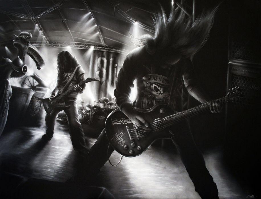 Dethklok heavy metal music cartoons hard rock band groups metalocalypse guitar concert    w wallpaper