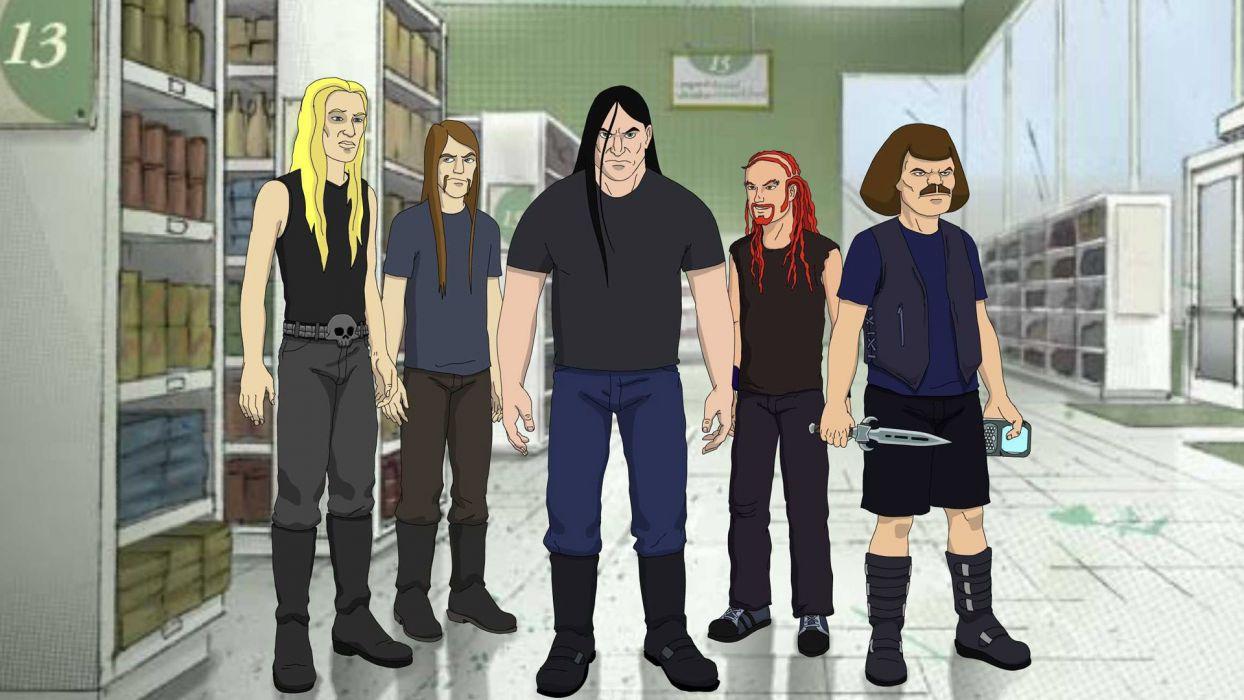 Dethklok heavy metal music cartoons hard rock band groups metalocalypse      d wallpaper