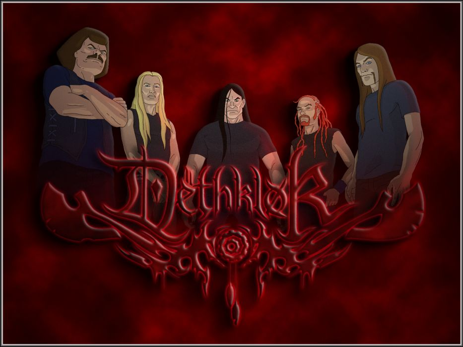 Dethklok heavy metal music cartoons hard rock band groups metalocalypse      b wallpaper