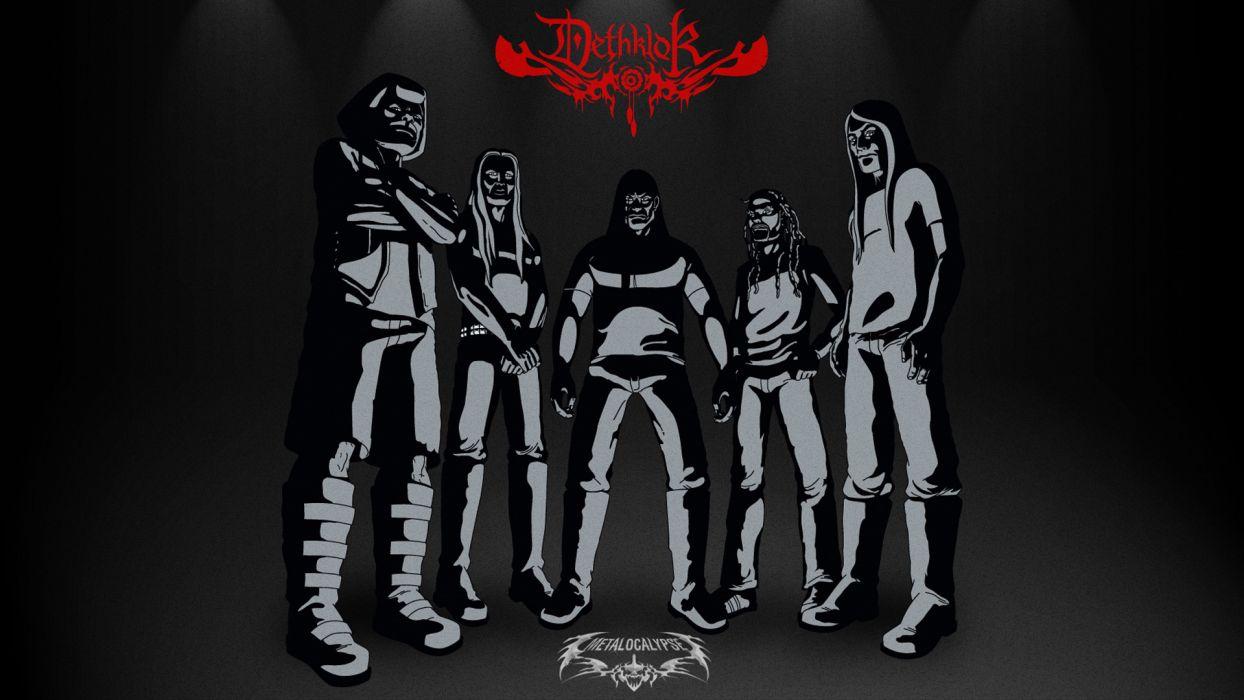 Dethklok heavy metal music cartoons hard rock band groups metalocalypse      s wallpaper