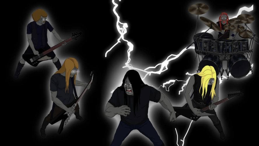 Dethklok heavy metal music cartoons hard rock band groups metalocalypse h wallpaper