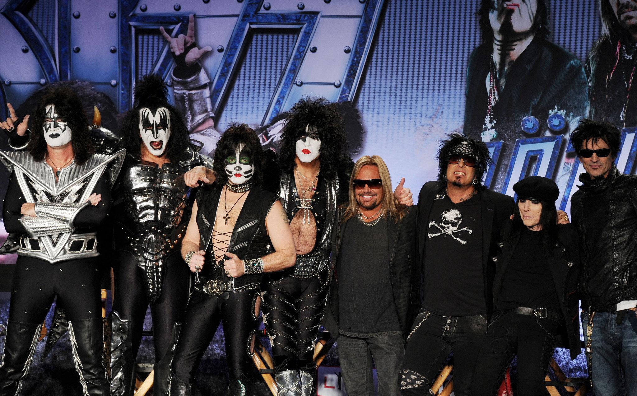 motley crue kiss concert heavy metal rock wallpaper