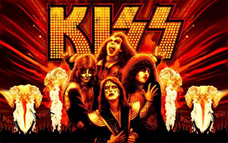 Kiss heavy metal rock bands t wallpaper
