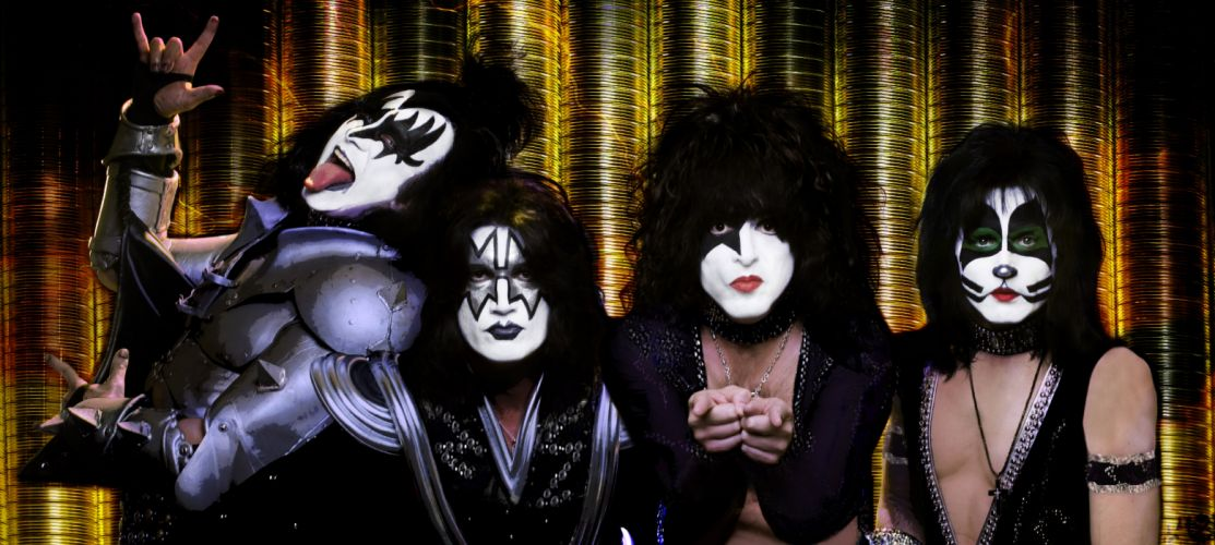 Kiss heavy metal rock bands d wallpaper