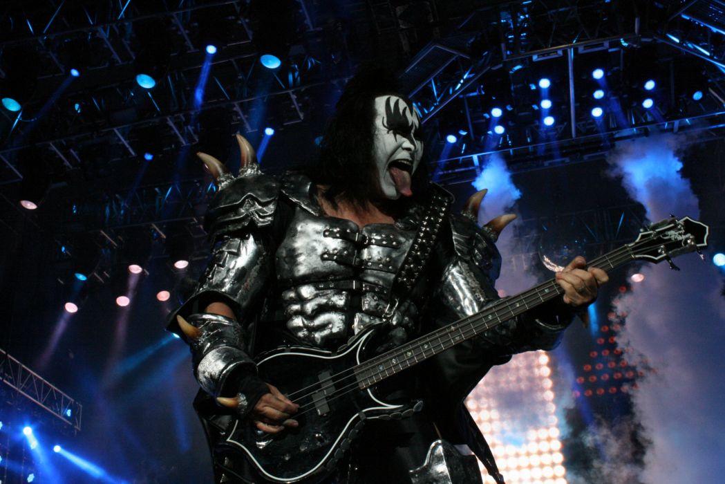 Kiss heavy metal rock bands concert guitar       a wallpaper