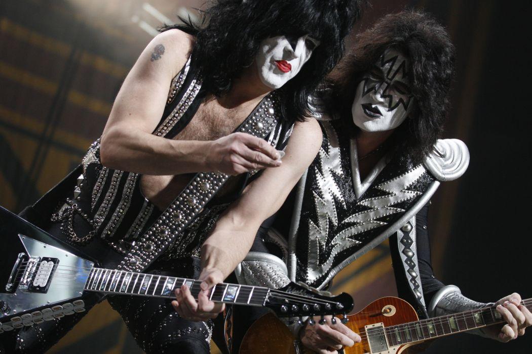 Kiss heavy metal rock bands concert guitar     p wallpaper