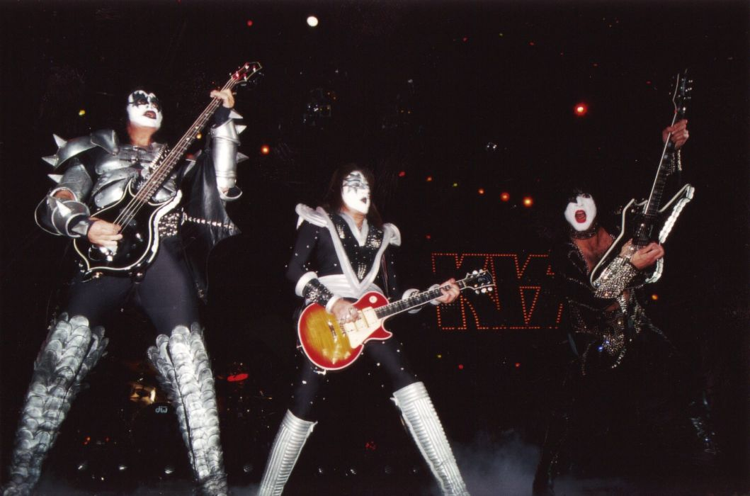 Kiss heavy metal rock bands concert guitar   s wallpaper