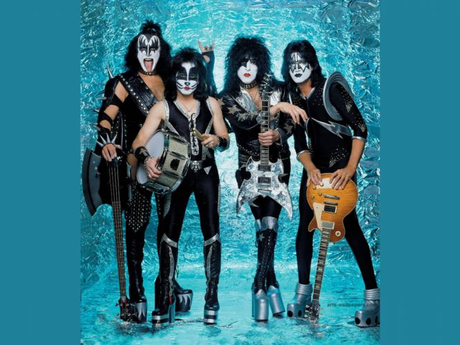 Kiss heavy metal rock bands guitar wallpaper