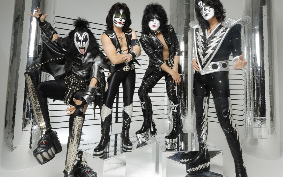 Kiss heavy metal rock bands wallpaper