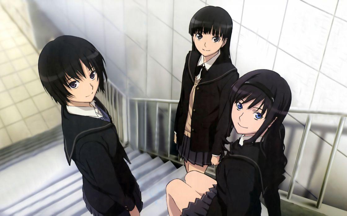 amagami ayatsuji tsukasa black hair blue eyes gray eyes headband morishima haruka nanasaki ai seifuku wallpaper