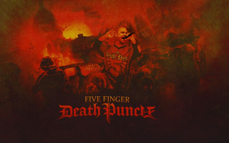 FIVE FINGER DEATH PUNCH heavy metal hard rock bands a wallpaper