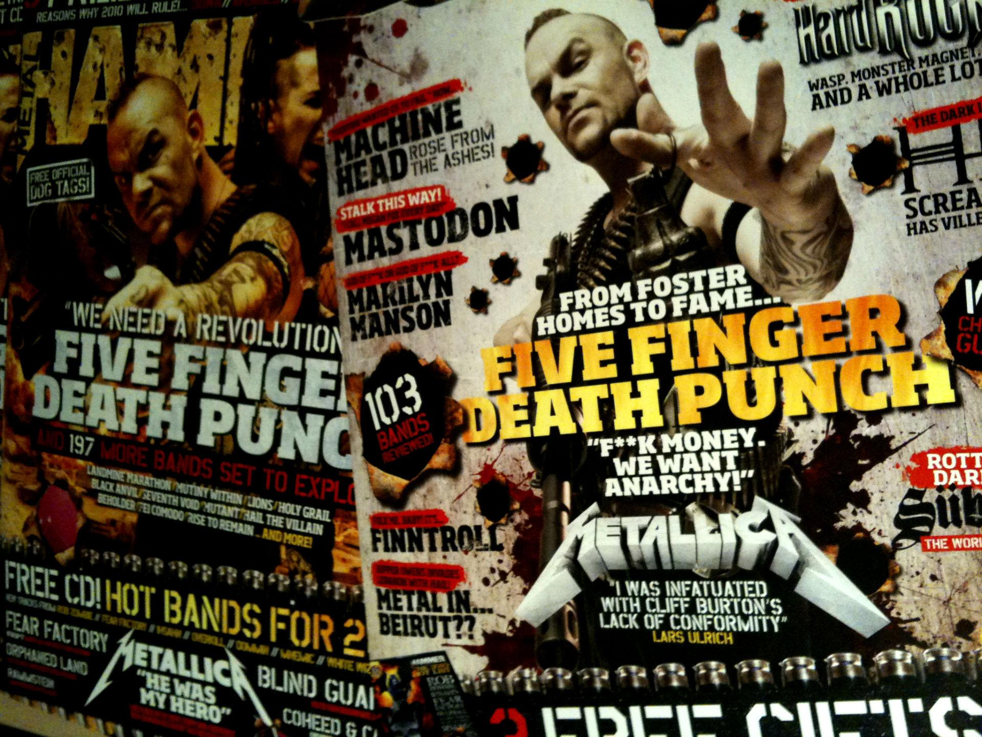 Five Finger Death Punch Heavy Metal Hard Rock Bands X Wallpaper