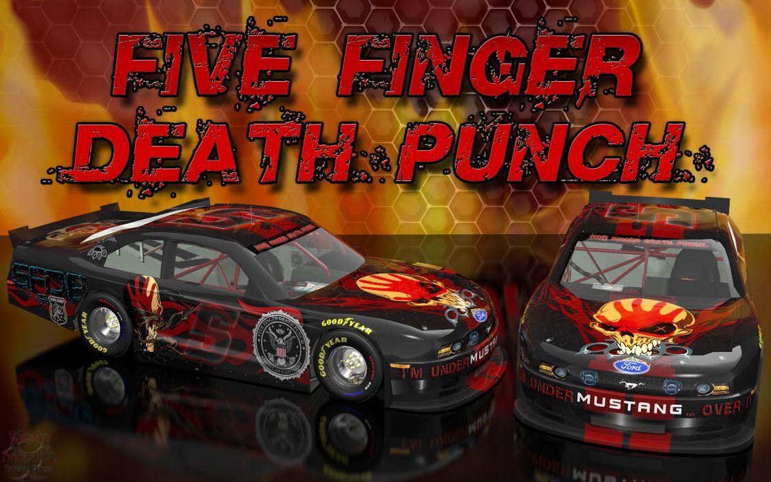 FIVE FINGER DEATH PUNCH heavy metal hard rock bands nascar racing race cars    r wallpaper