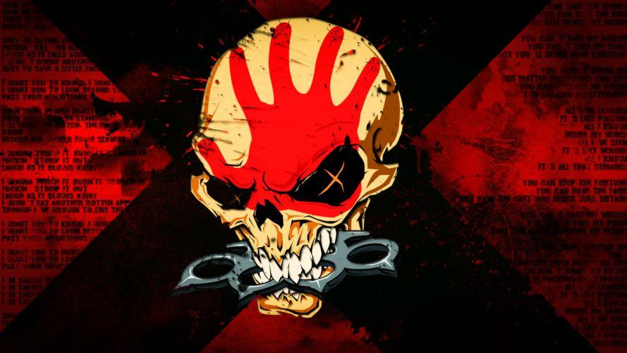 FIVE FINGER DEATH PUNCH heavy metal hard rock bands skull skulls dark q wallpaper