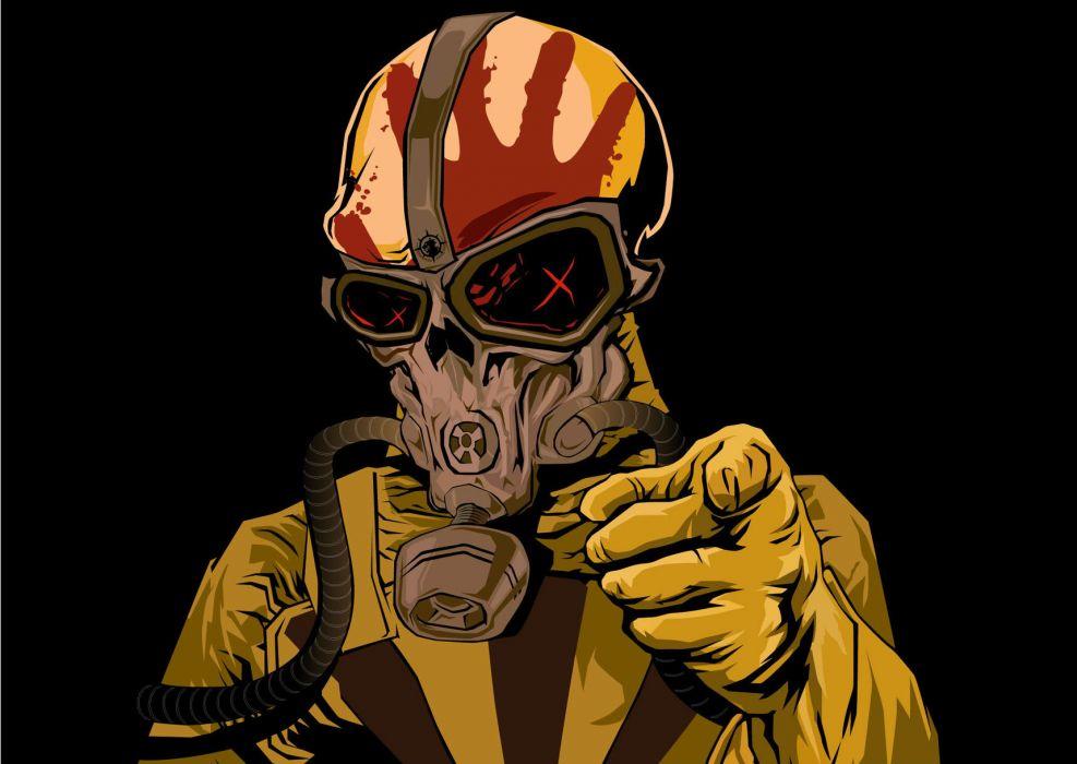 Five Finger Death Punch Heavy Metal Hard Rock Bands Skull Skulls Dark Gas Mask Wallpaper 1718x1218 74290 Wallpaperup