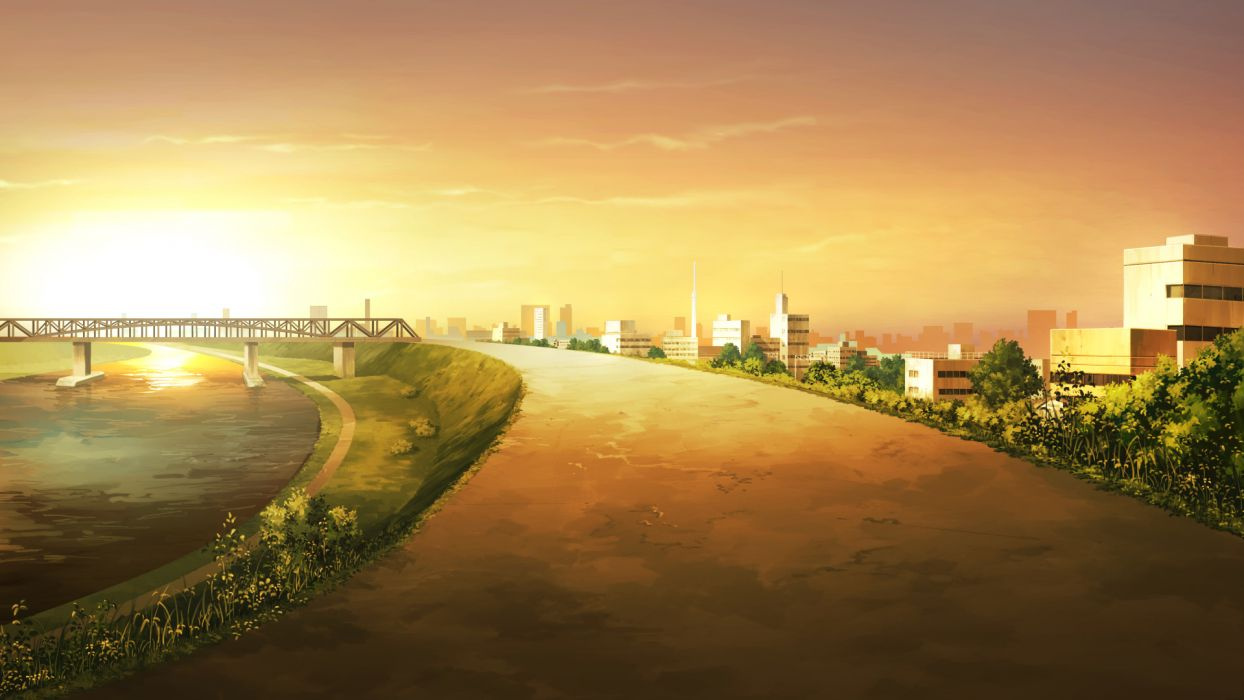 game cg landscape scenic sky sunset your diary wallpaper
