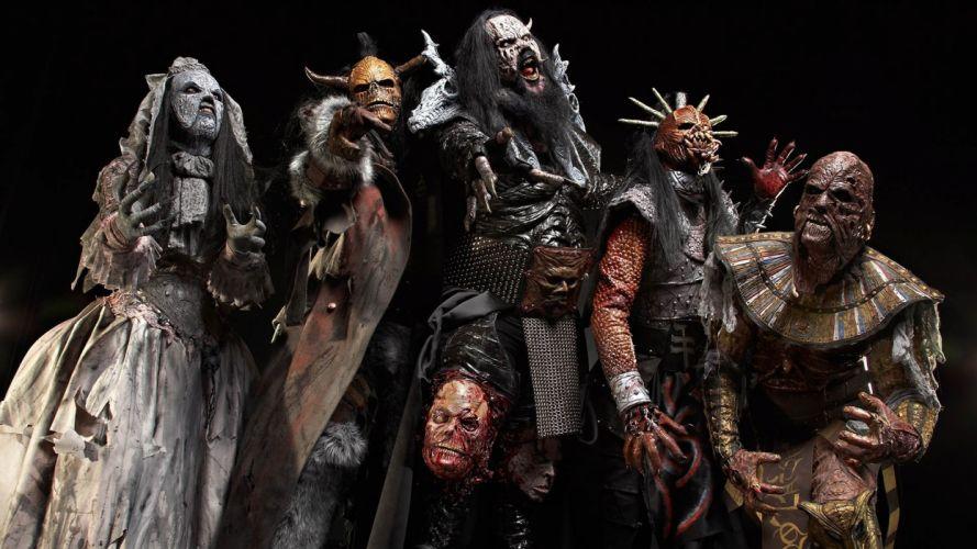 Lordi heavy metal bands dark wallpaper