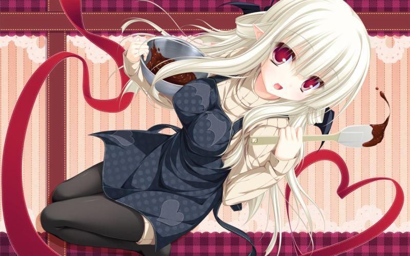 elf filia(lunaris filia) long hair lunaris filia mikagami mamizu valentine whirlpool wallpaper