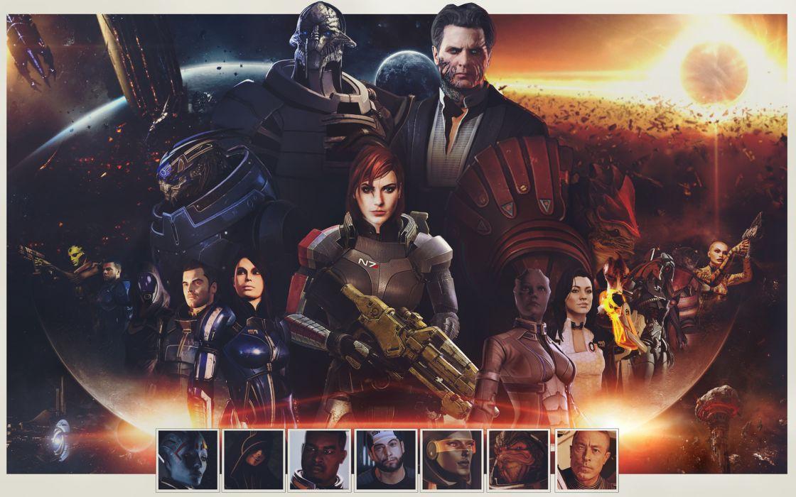 Mass Effect sci-fi wallpaper