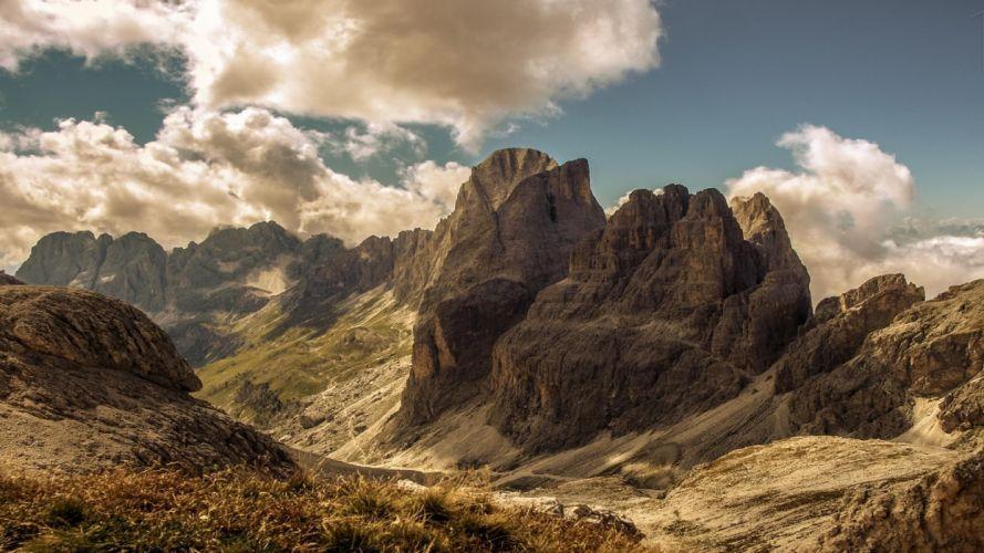 Mountains Landscape Clouds wallpaper