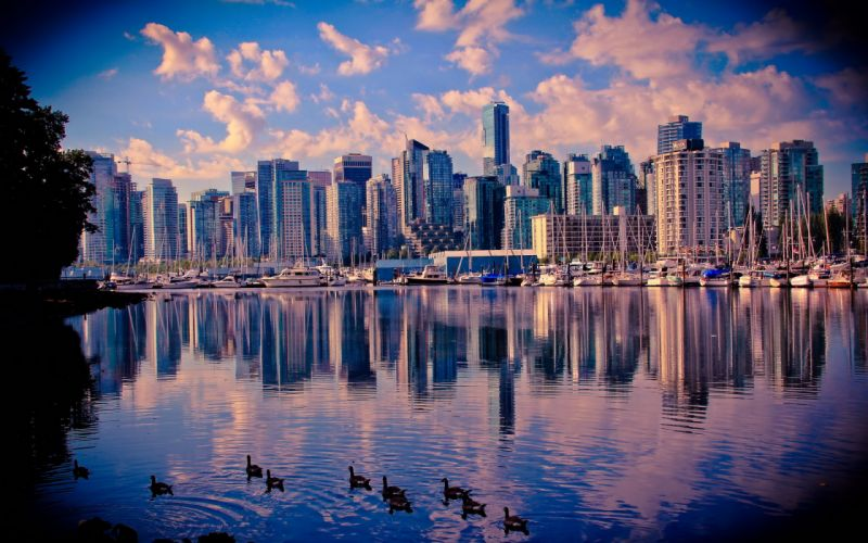 Canada Coast Vancouver City wallpaper