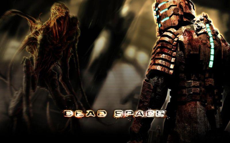 Dead Space videogames sci-fi futuristic dark alien blood monster i wallpaper