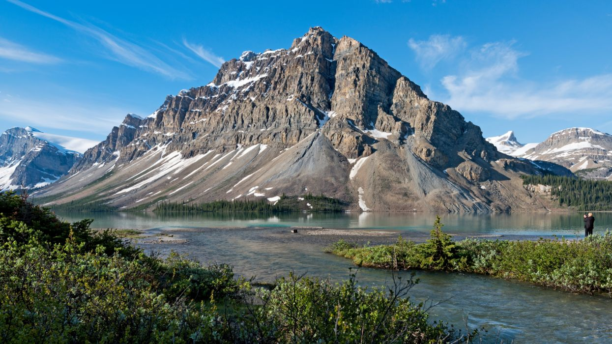 Parks Canada Mountains Scenery Banff Crag Nature    q wallpaper