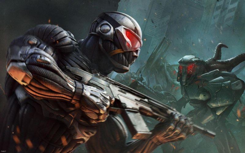 Crysis sci-fi weapons d wallpaper