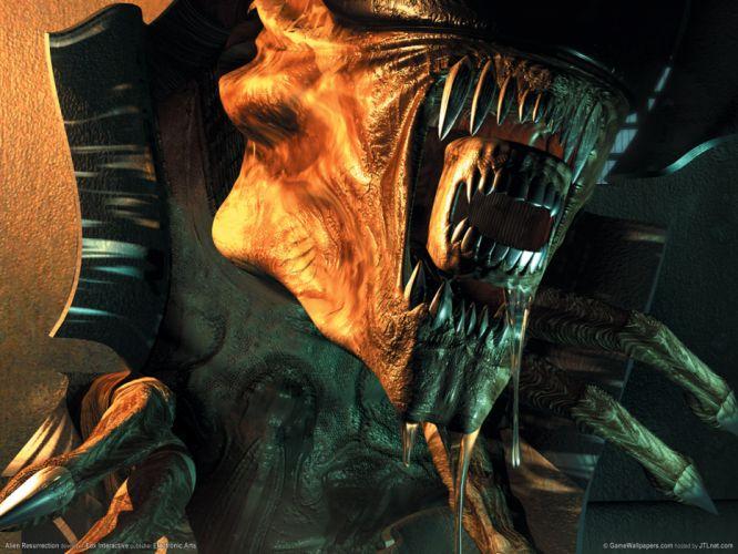 Alien Resurrection sci-fi aliens q wallpaper