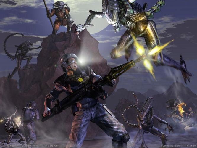 Aliens vs_ Predator Games sci-fi alien movies l wallpaper