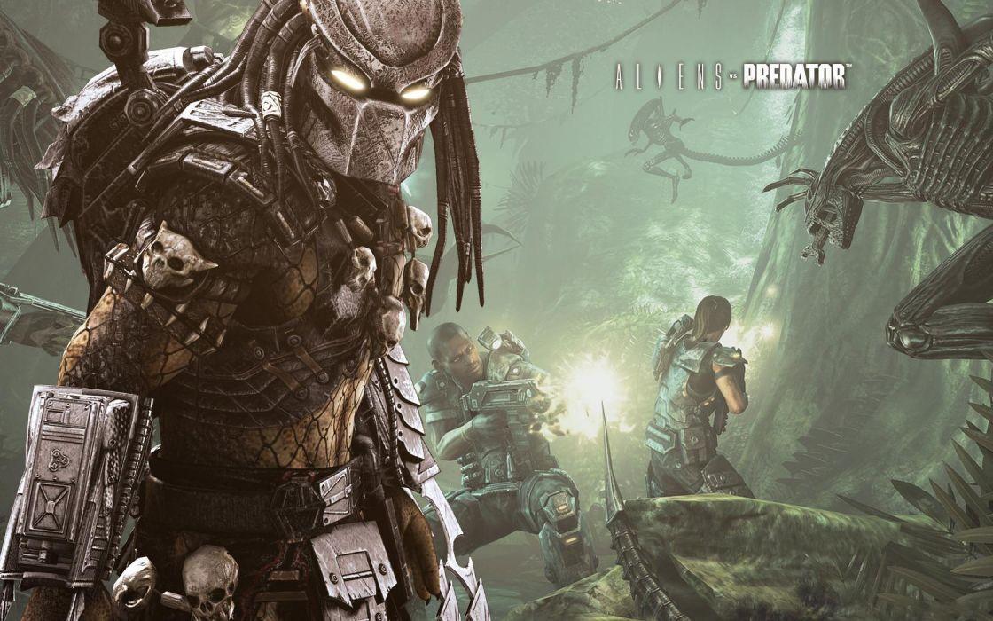 Aliens vs_ Predator Games sci-fi alien weapons      o wallpaper