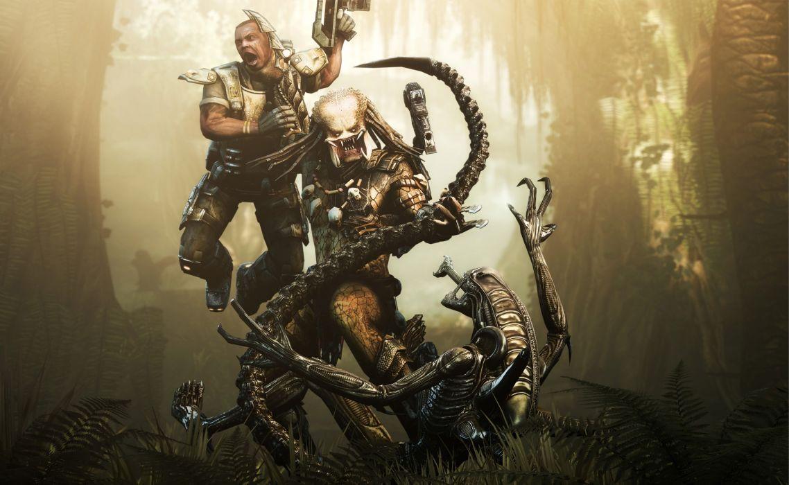 Aliens vs_ Predator Games sci-fi alien weapons      r wallpaper