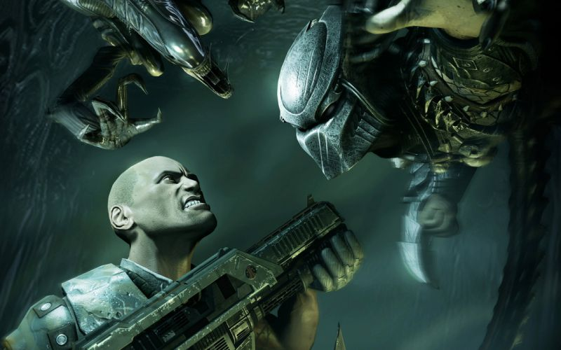 Aliens vs_ Predator Games sci-fi alien weapons i wallpaper