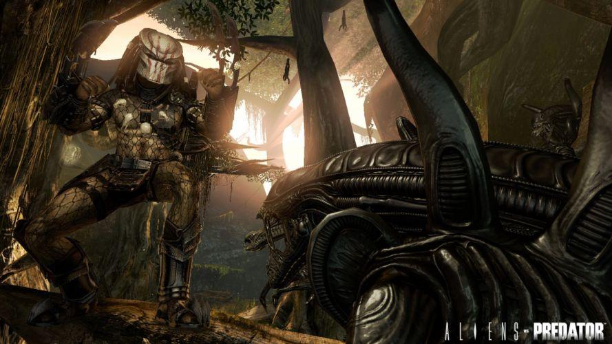 Aliens vs_ Predator Games sci-fi alien weapons q wallpaper
