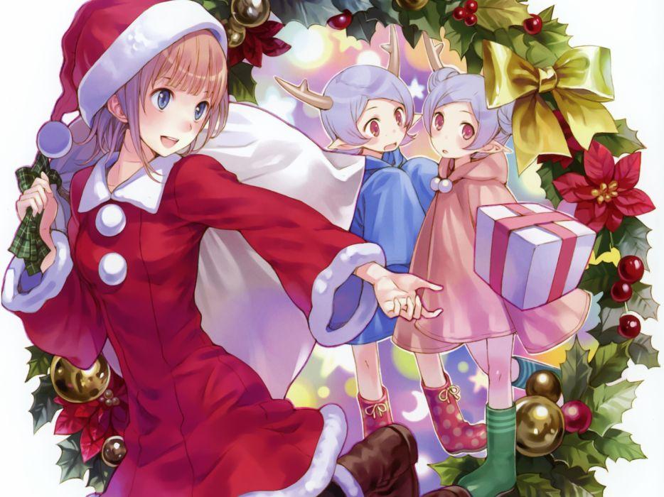 atelier rorona christmas hat hom kishida mel rororina fryxell santa costume santa hat wallpaper
