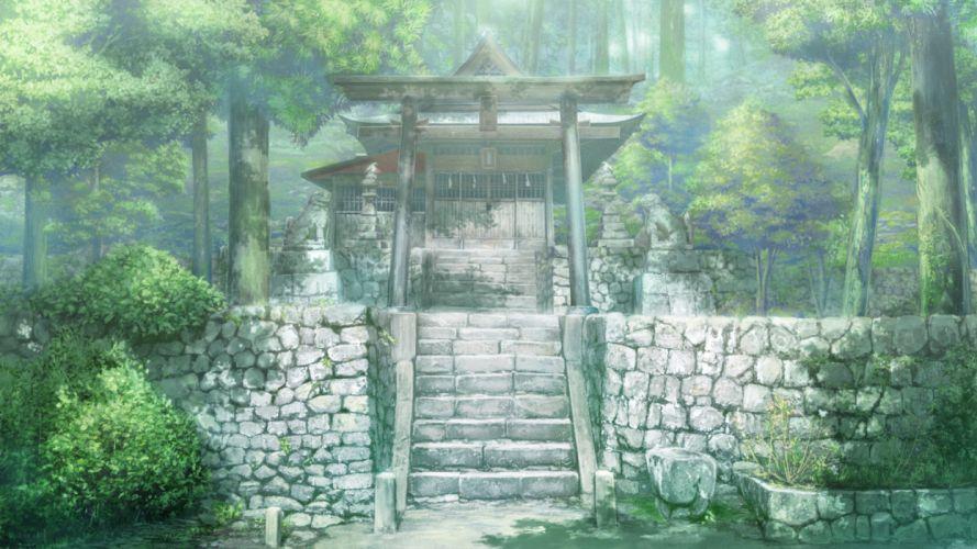 game cg monobeno scenic stairs tree fantasy asian wallpaper